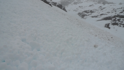 Ben Eighe, lots of avalanche debris around