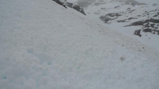 Ben Eighe, lots of avalanche debris around