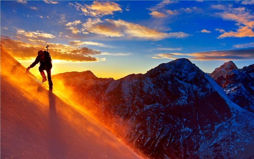 Matjaz Wiegele on Planjava - kamnik and Savinja Alps