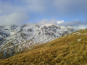 general outlook for Crinkle Crags-plenty of good snow!