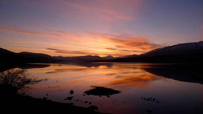 Great sunset North of Bridge of Orchy on Monday Night