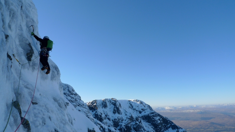 Richard Allen on Orion Direct, Ben Nevis, just after the Basin.