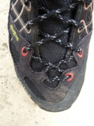 The narrow profile and climbing lace system was good for climbing.