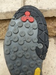 The Vibram climbing rubber was sticky enough for rock climbing.