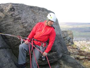 Using the Grivel Daisy Chain in 'guide' mode. Great for 'hands free' options.