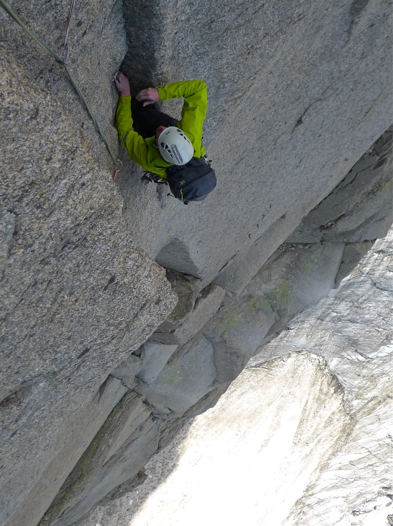 The Arc'teryx Gamma SL Hybrid Hoody is perfect for Summer Alpine rock climbing. Here Garry Philips puts his through its paces on the Grand Charmoz.