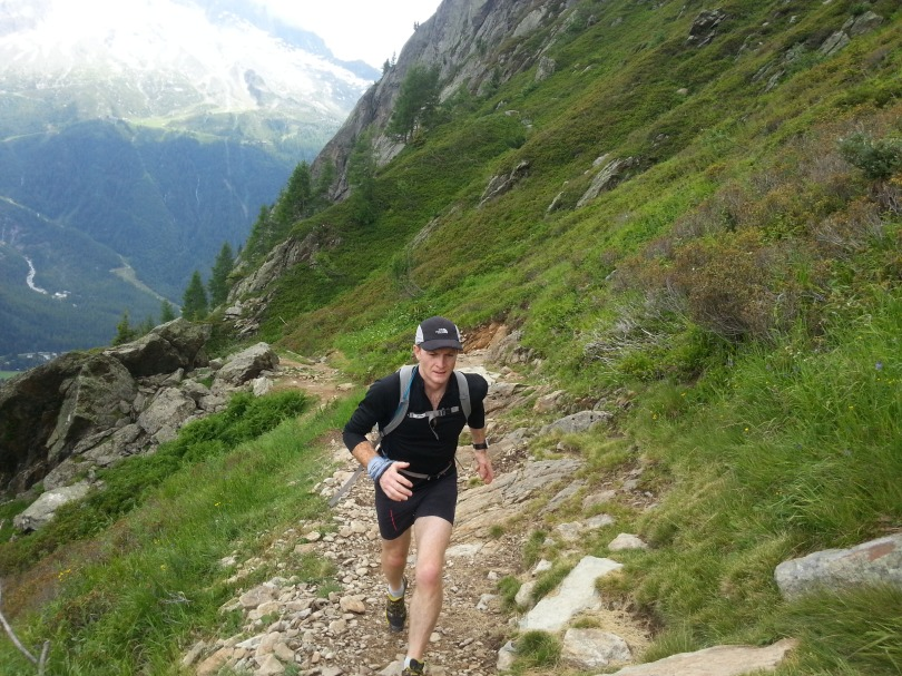 Testing out the Mammut MTR 71 shorts and MTR 201 top in the Aiguilles Rouges, Chamonix