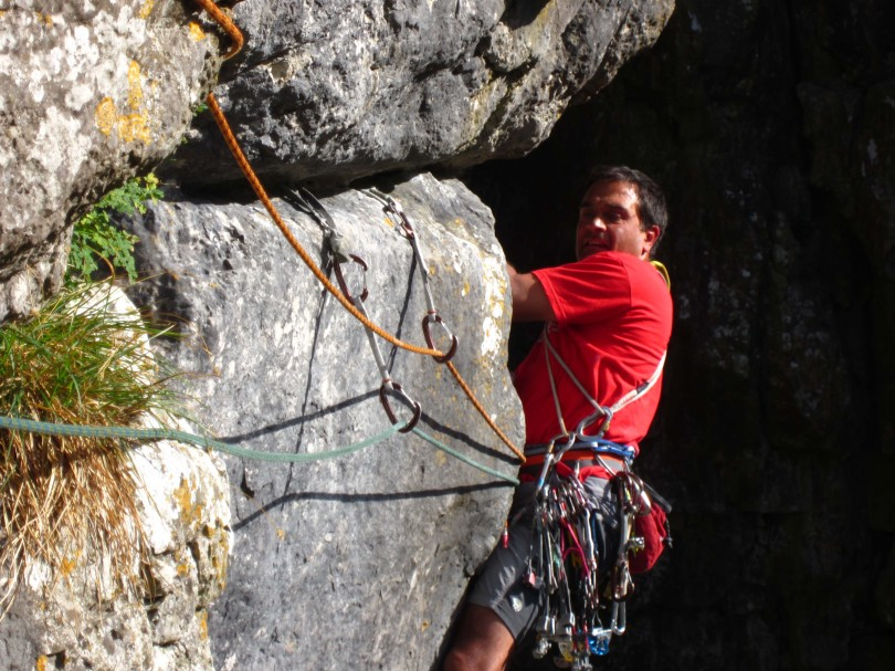 WC Blaze harness. Great for trad and sport climbing.