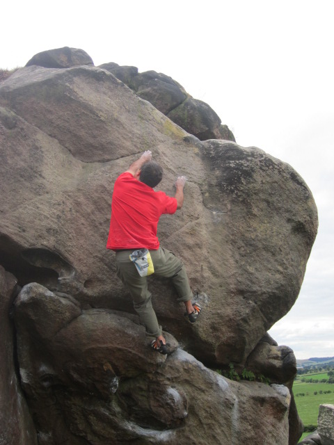 Blurr Rogue pants - great for bouldering. I preferred to roll the legs up.