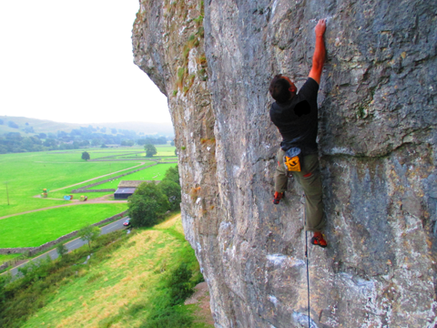 The toe profile was great for routes such as Frankie... at Kilnsey &b+