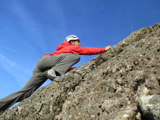 The stretch NeoShell fabric give the Marmot Nabu jacket great freedom of movement for climbing.