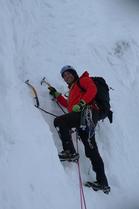 The Marmot Nabu was the perfect ice climbing jacket
