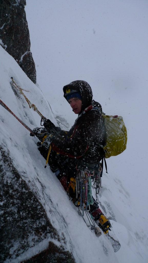 Belaying in weather like this requires a decent belay parka!