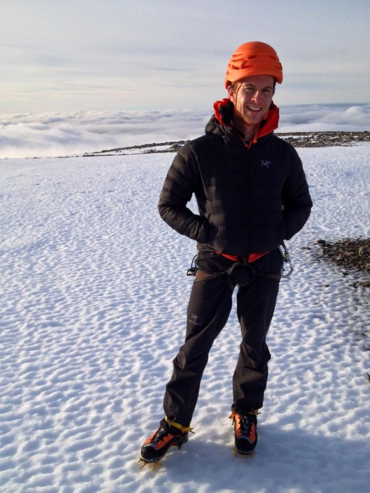 The Arc'teryx Cerium LT Hoody is perfect for cold, dry conditions such as this rare day on Ben Nevis.