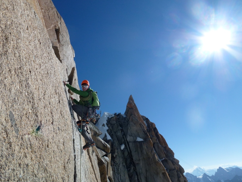 The Edelrid 19G Quickdraws worked best on classic alpine routes such as the Aiguille Du Midi's, Cosmiques Arete.
