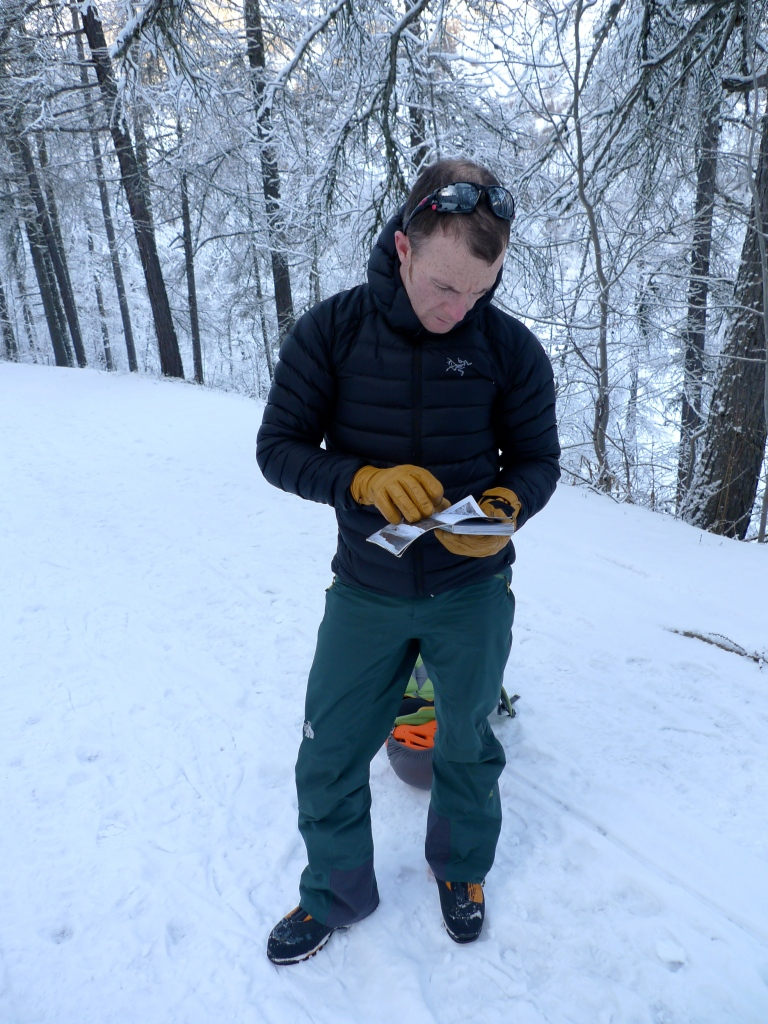 The Arc'teryx Cerium LT Hoody  was great for throwing on for short stops.
