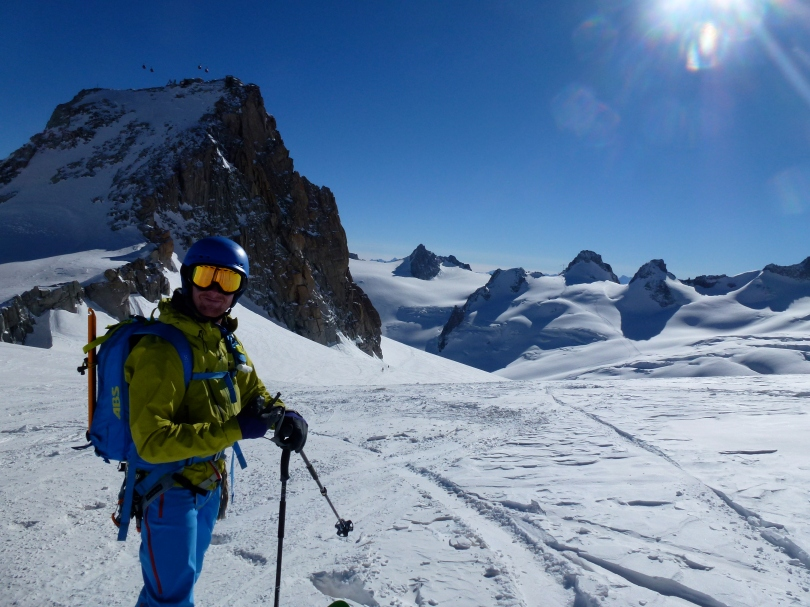 The North Face Kichatna Jacket, off in search of powder in the Vallee Blanche, Chamonix.