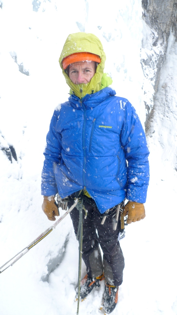 All DAS'd up with nowhere to go! Testing Patagonia's DAS Parka in the French Alps. A great belay parka fits over your outer layers and has a 2 way zip so you can access your belay loop.