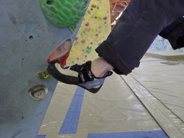 The toe profile made for precision footwork.