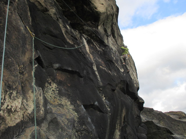 The Arc'teryx Nuclei was great to rock climb in on those cold windy days.