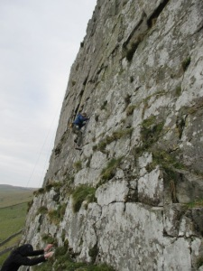 The TNF Catalyst had a good cut for climbing in.