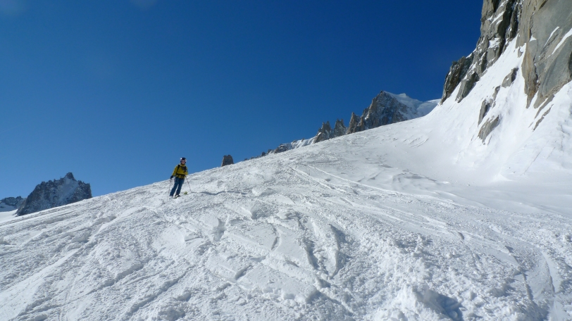 The North Face Women's Alloy Jacket - perfect for a descent of the Vallee Blanche on a cold, crisp, blue sky day!