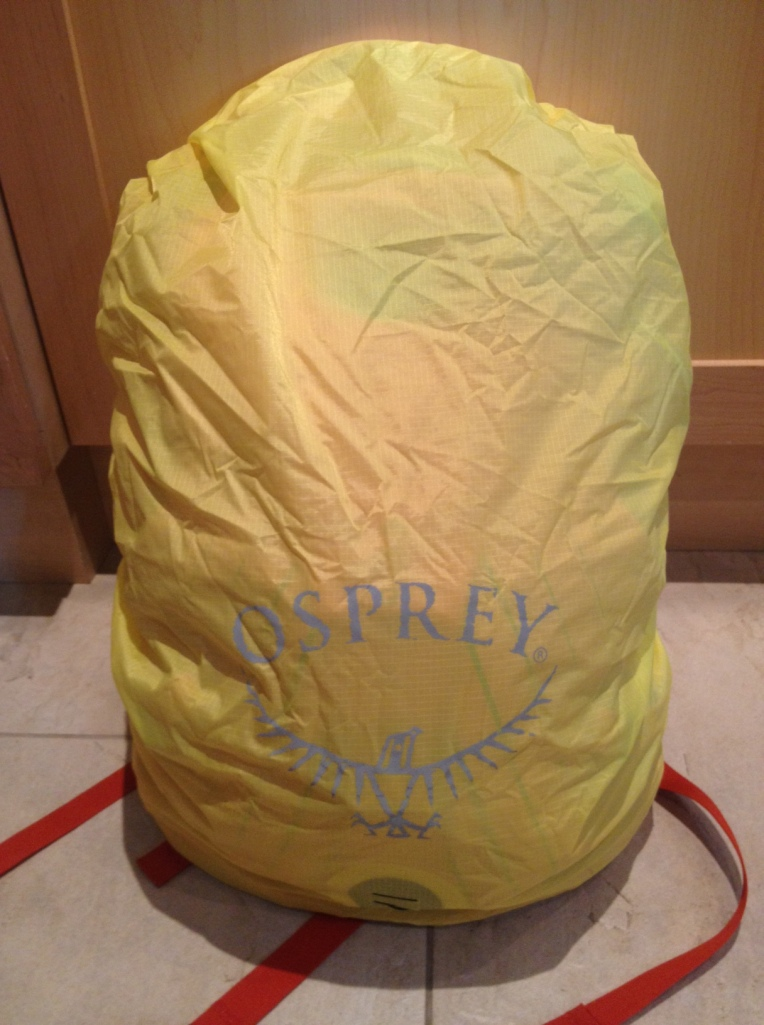Osprey Momentum 22 - hi-vis removeable rain cover, brilliant for our wettest winter on record!
