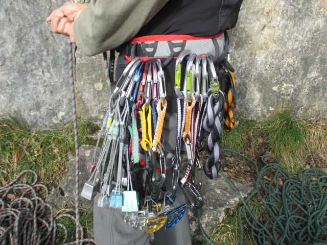 The DMM Renegade 2 gear loops swallowed up any sized rack.