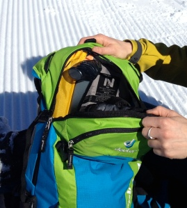 Deuter Provoke Pack - dedicated shovel and probe pocket.