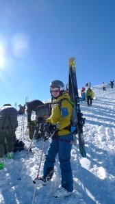 Deuter Provoke Pack - comfortable and sturdy for carrying skis or snowboard.