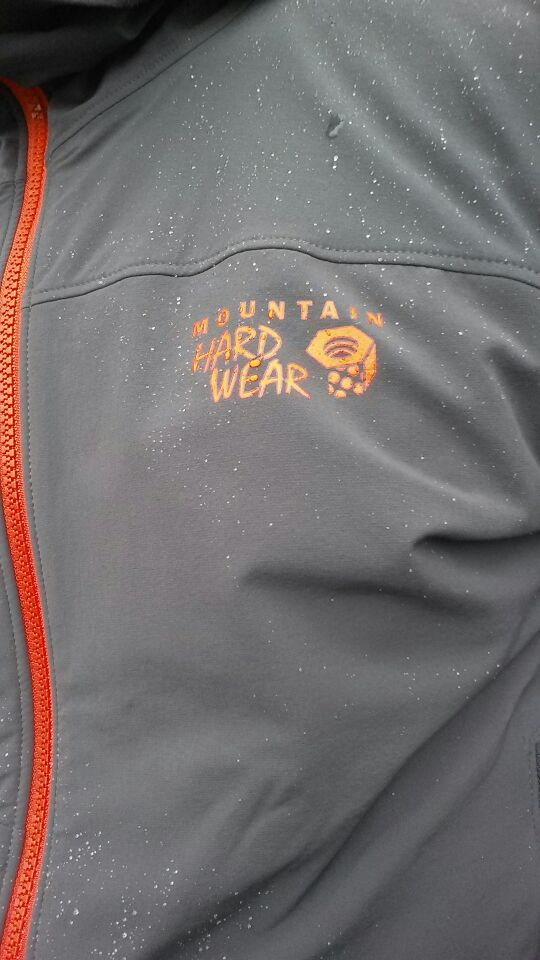 Mountain Hardware Super Chockstone Jacket - the DWR finish worked well!