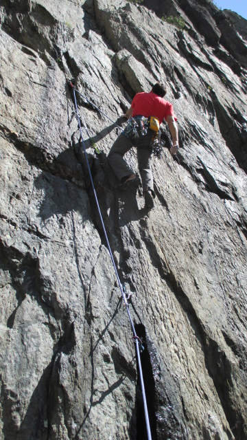 The waistbelt was plenty comfortable for long trad routes.