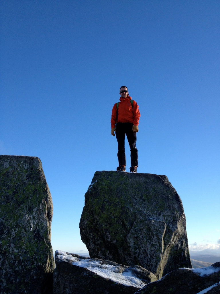 Arc'teryx Alpha Comp Hoody - perfect for those rare crisp winter days in the UK. Here on the summit of Tryfan, North Wales.