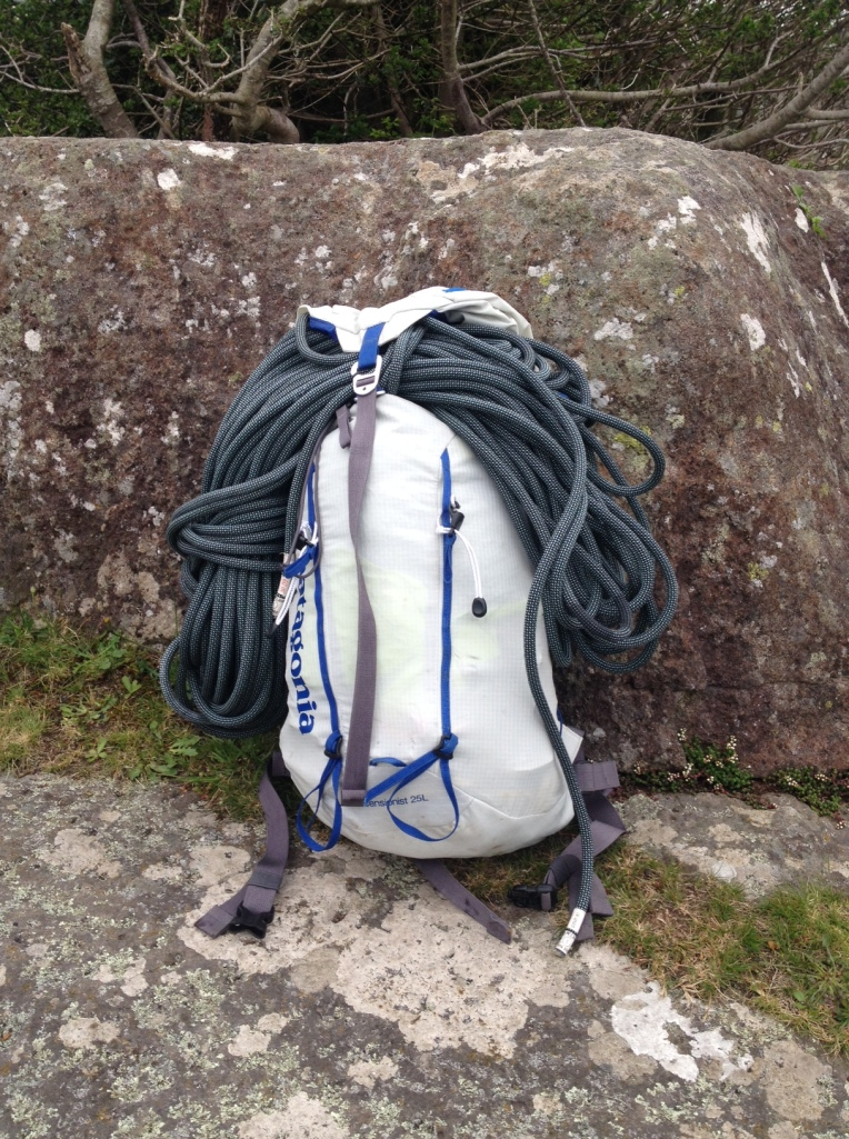 Patagonia Ascensionist 25 Pack - rope lashed to the outside.
