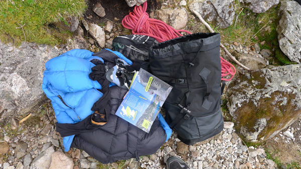 The North Face Cinder 32 easily fitted all you need for a day on the crag.