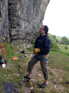 Perfect for steep routes - Kilnsey Crag, Yorkshire.