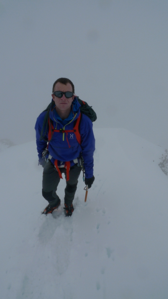 Haglöfs Roc Lite Pull - great weather protection for mountaineering. Works well with a climbing harness.