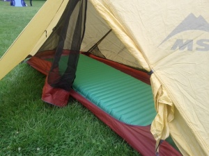 The Therm-a-rest NeoAir All Season filled my MSR tent.