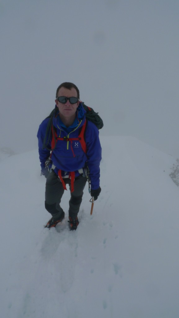 Black Diamond Raven Ultra Ice Axe - works well on classic alpine terrain such as here on the Monch, Switzerland.