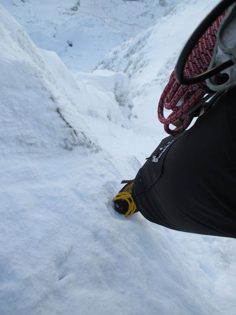La Sportiva Trango Cube on steep nevé