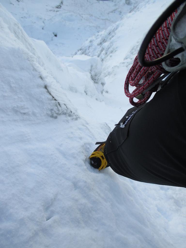 La Sportiva Trango Cube on steep nevé