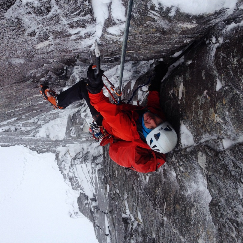 Rich following pitch 2, Central Grooves, Stob Coire Nan Lochan, 20/12/2014