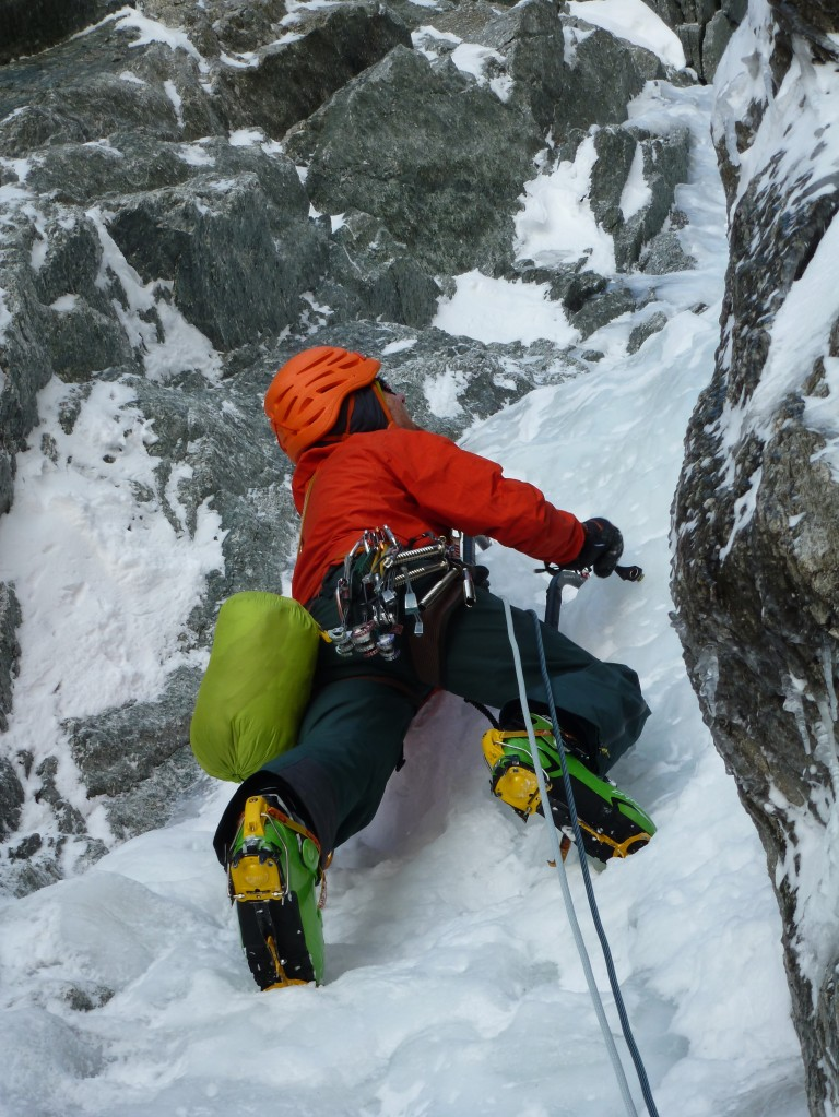 The DMM Switch were excellent on pure ice routes such as the Chamonix goulotte, Modica Noury.