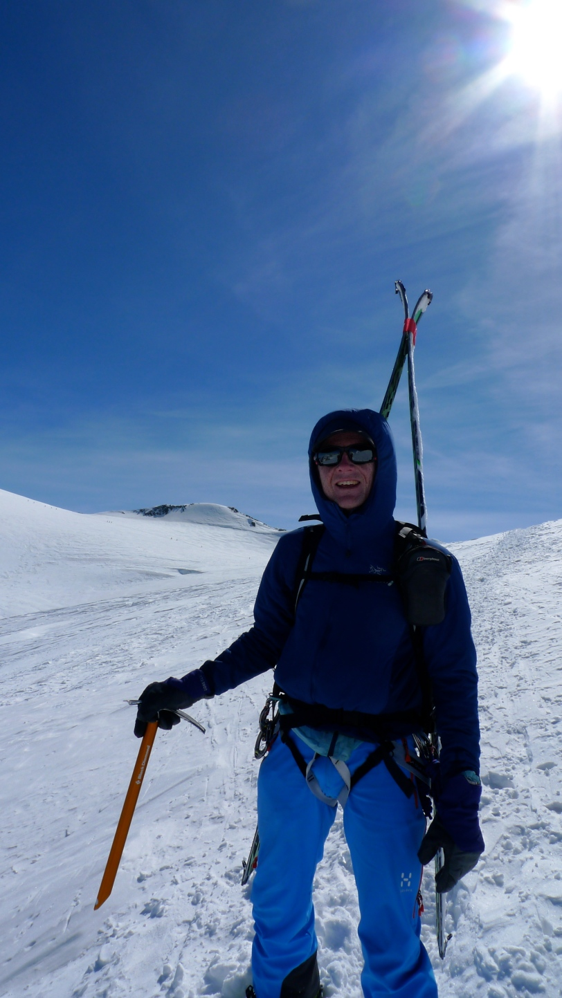 Blue Ice Choucas Harness - bootpacking whilst skiing the class Chamonix to Zermatt 'Haute Route'