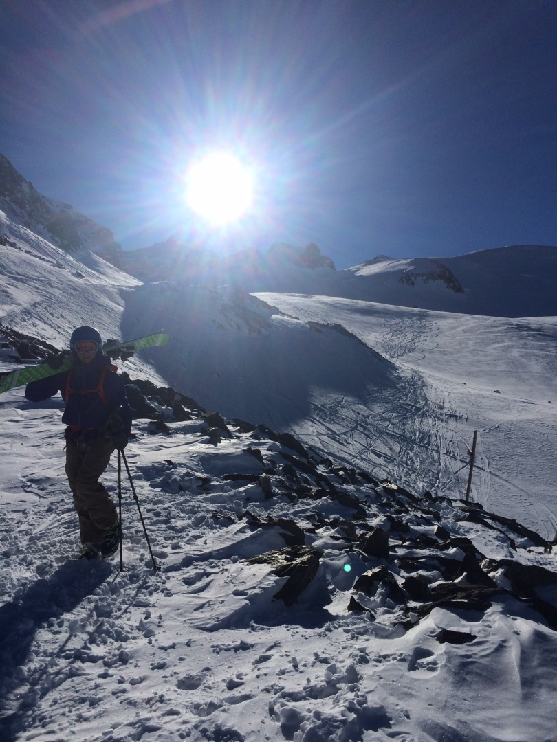 Patagonia Untracked Jacket and Pants - short bootlick after an early season descent of the Glacier De La Giros, La Grave.