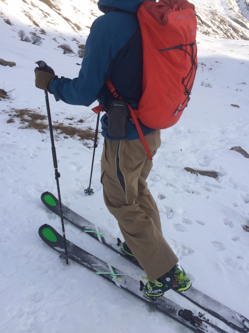 Patagonia Untracked Pants - zippered vents for those uphill efforts.