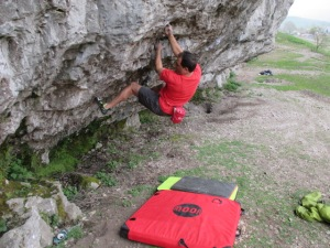 It was great to carry as an extra pad for a spot of bouldering after sport climbing.