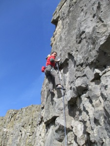 The Northj Face Corona Pants were great for sport climbing