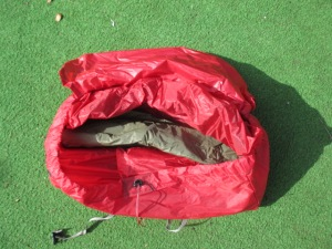 The oversized bag was great for just chucking the tent in.