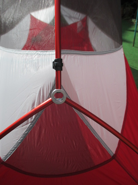 The integrated pole system meant it was a breeze to pitch. & MSR Hubba NX Review | Climbing Gear Reviews